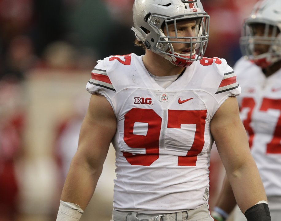 12c06b6e4 Ohio State s Joey Bosa (97) in action during the second half of an NCAA  college football game against Indiana