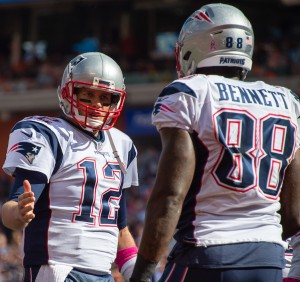 Tom Brady and Martellus Bennett
