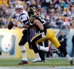 Tom Brady under pressure