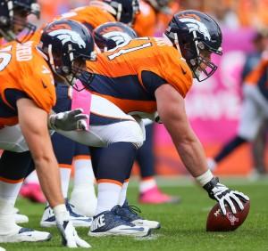 Broncos cetner Matt Paradis
