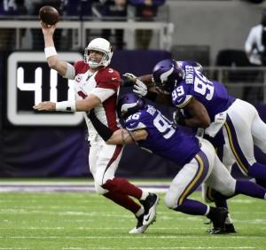 Carson Palmer vs Vikings pressure