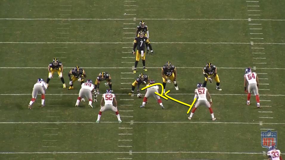 Steelers vs Giants run concept