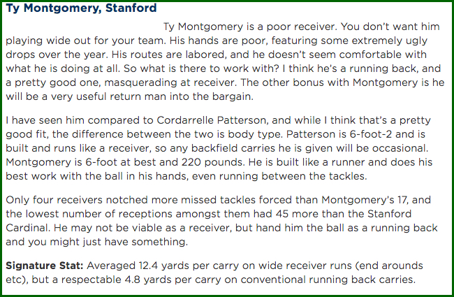 Ty Montgomery scouting report