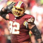 Redskins defensive lineman Chris Baker
