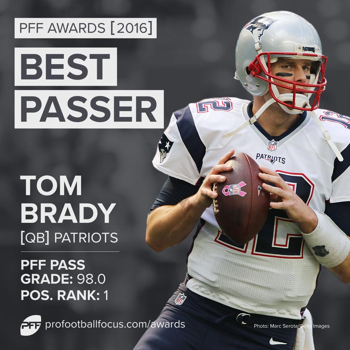 2016 PFF Best Passer: Tom Brady