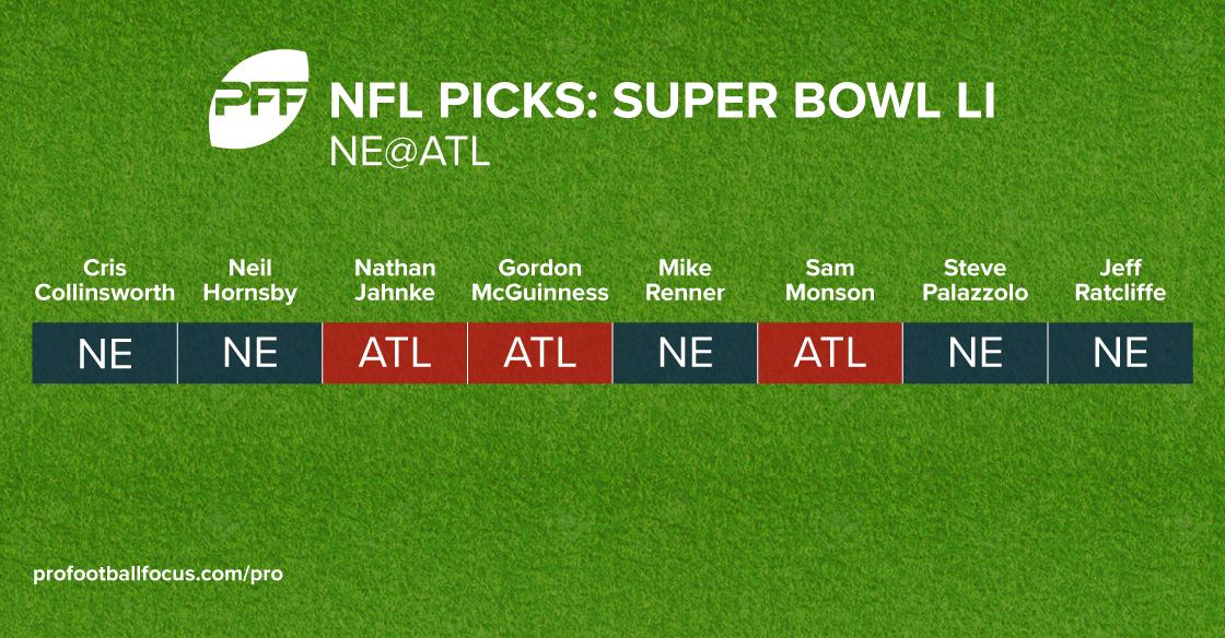 PFF Super Bowl LI picks