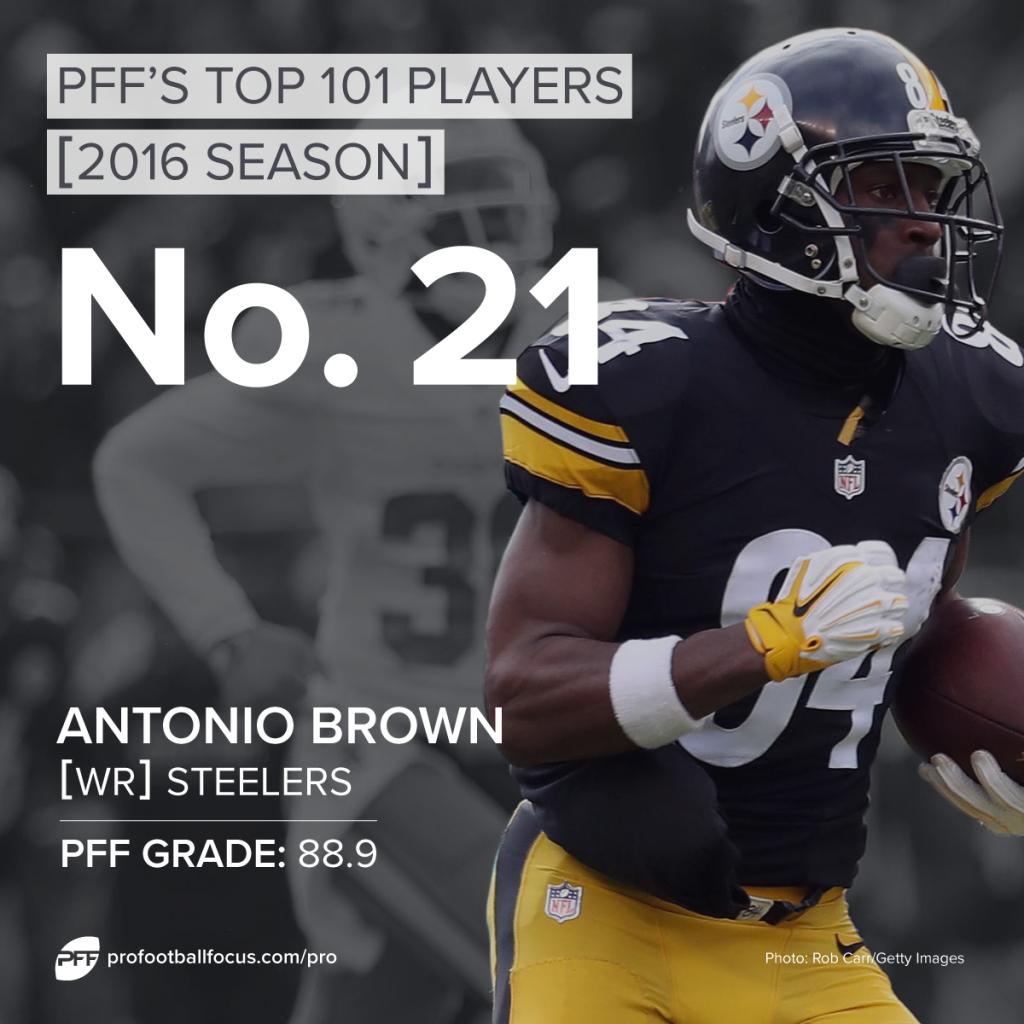 Antonio Brown, WR, Steelers, Top 101