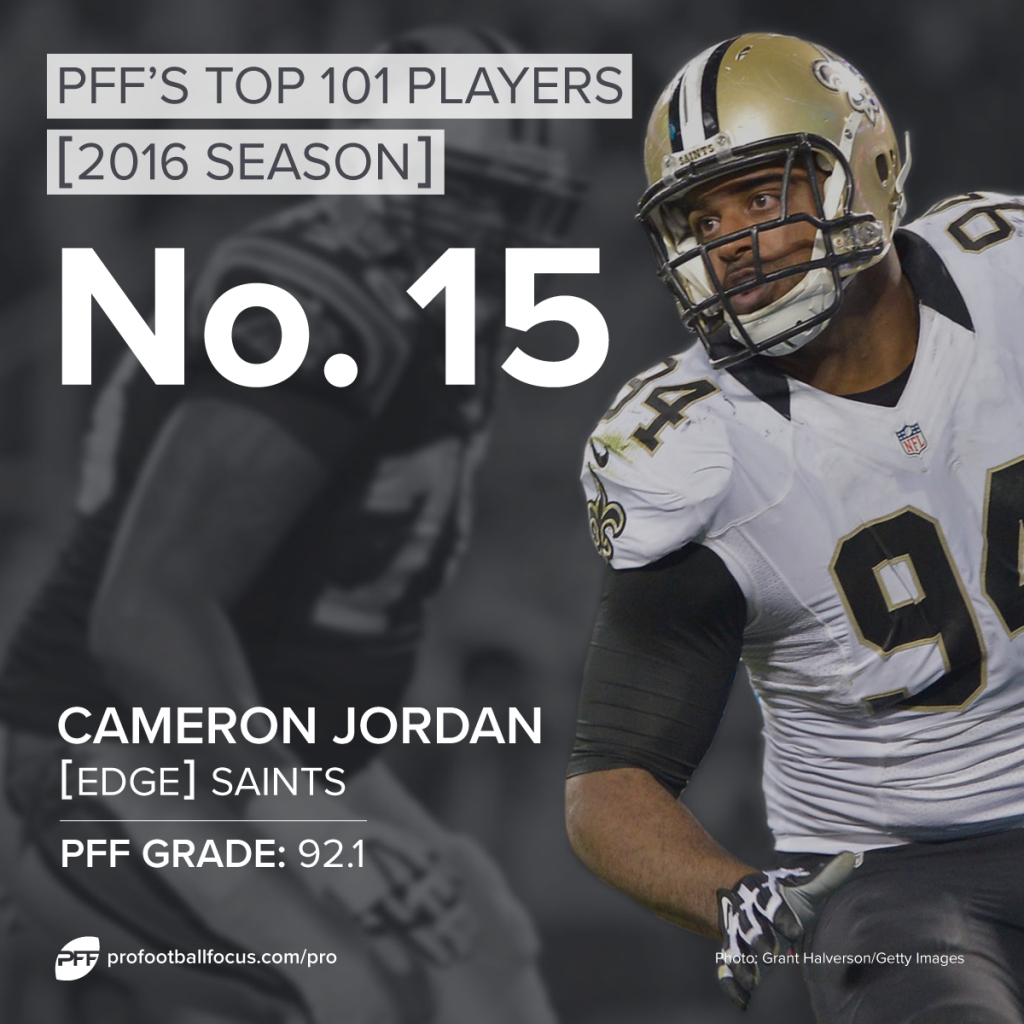 Cameron Jordan, Saints, Top 101