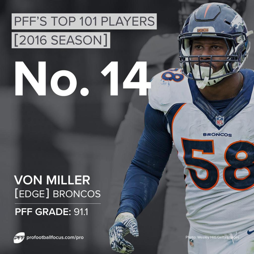 Von Miller, OLB, Broncos, Top 101