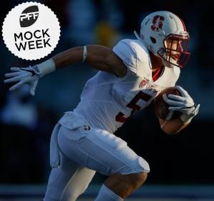 Christian McCaffrey in PFF Mock Week