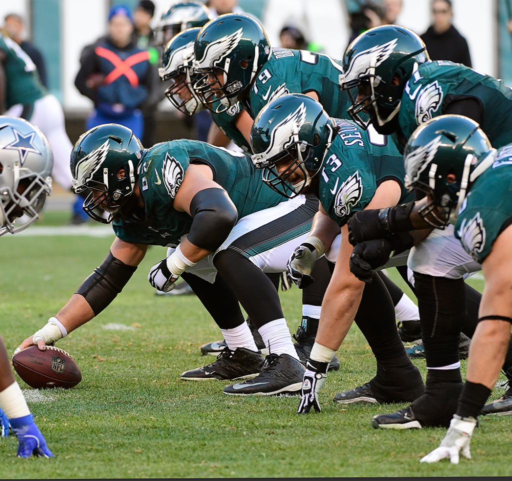Jason Kelce and the Philadelphia Eagles Offensive Line