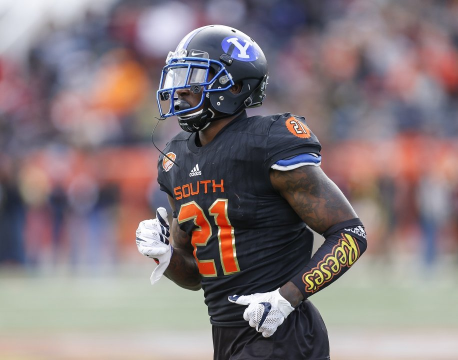 Mobile Al January 28 Byu Runningback Jamaal Williams 21 Of The South Team During 2017 Resse S Senior Bowl At Ladd Bles Stadium On