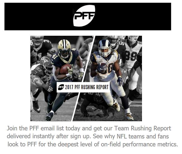 Free NFL Rushing Report