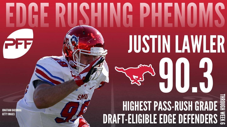 2018 NFL Draft-Eligible prospect, edge-rusher Justin Lawler
