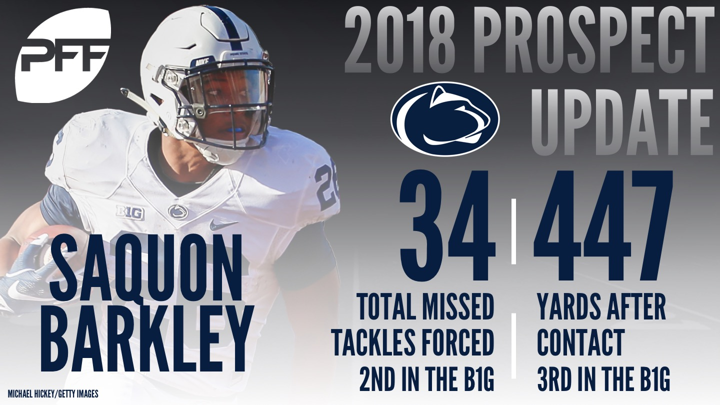 Penn State RB Saquon Barkley, 2018 NFL Mock Draft