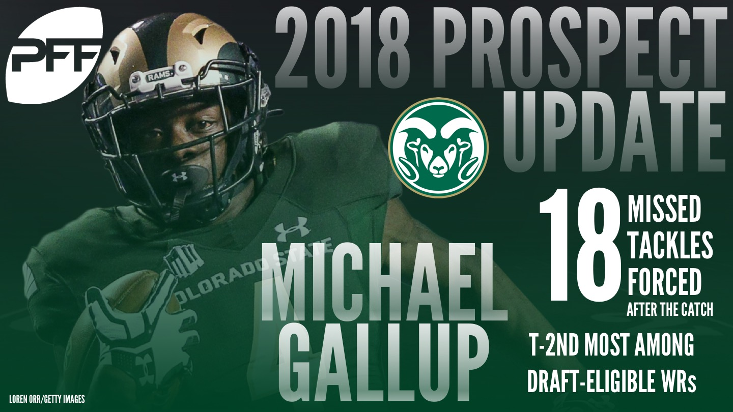 Colorado State WR Michael Gallup, 2018 NFL Mock Draft