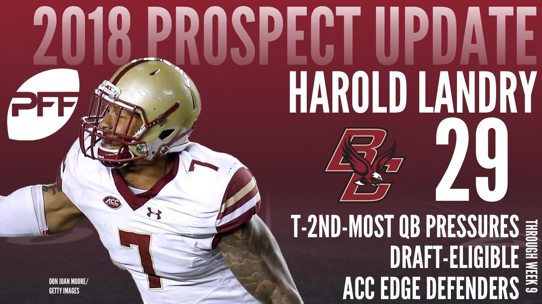 Boston College edge defender Harold Landry, 2018 NFL Mock Draft