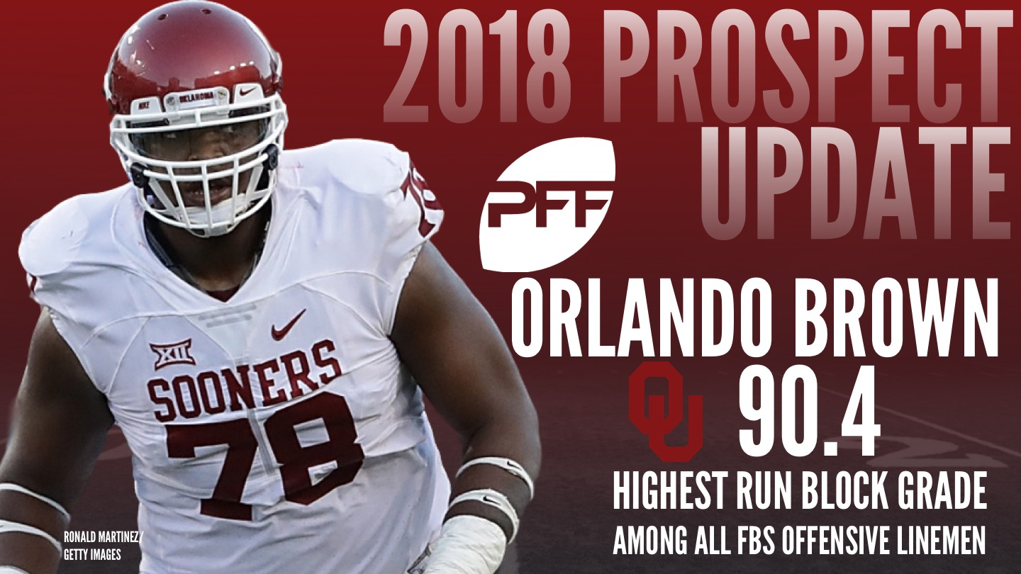 Oklahoma OT Orlando Brown, 2018 NFL Mock Draft