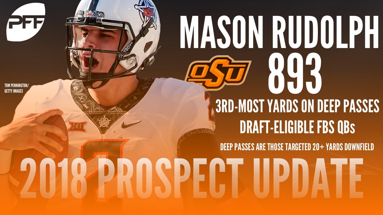 Oklahoma State QB Mason Rudolph, 2018 NFL Mock Draft