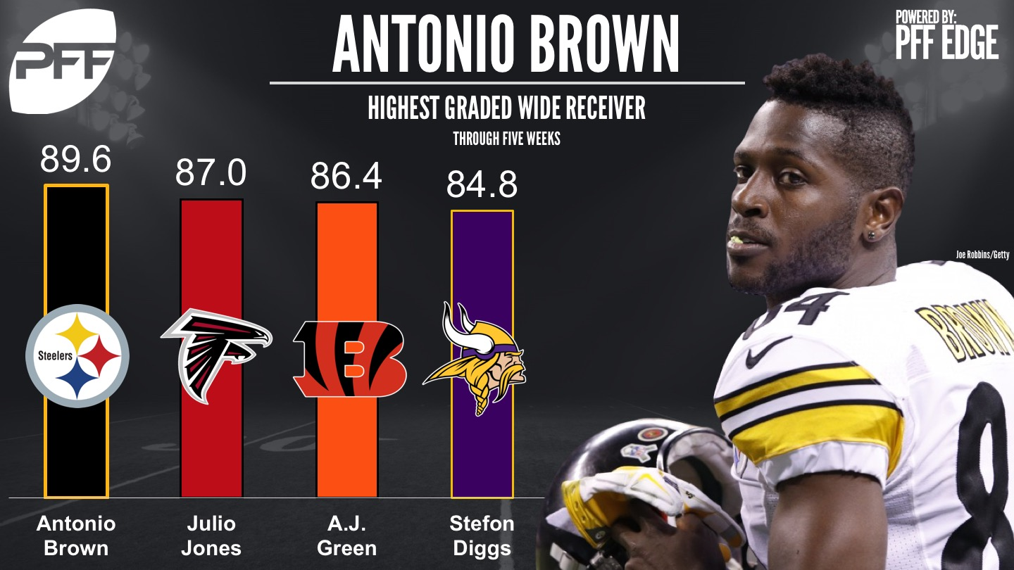 NFL's top graded WR - Pittsburgh Steelers WR Antonio Brown