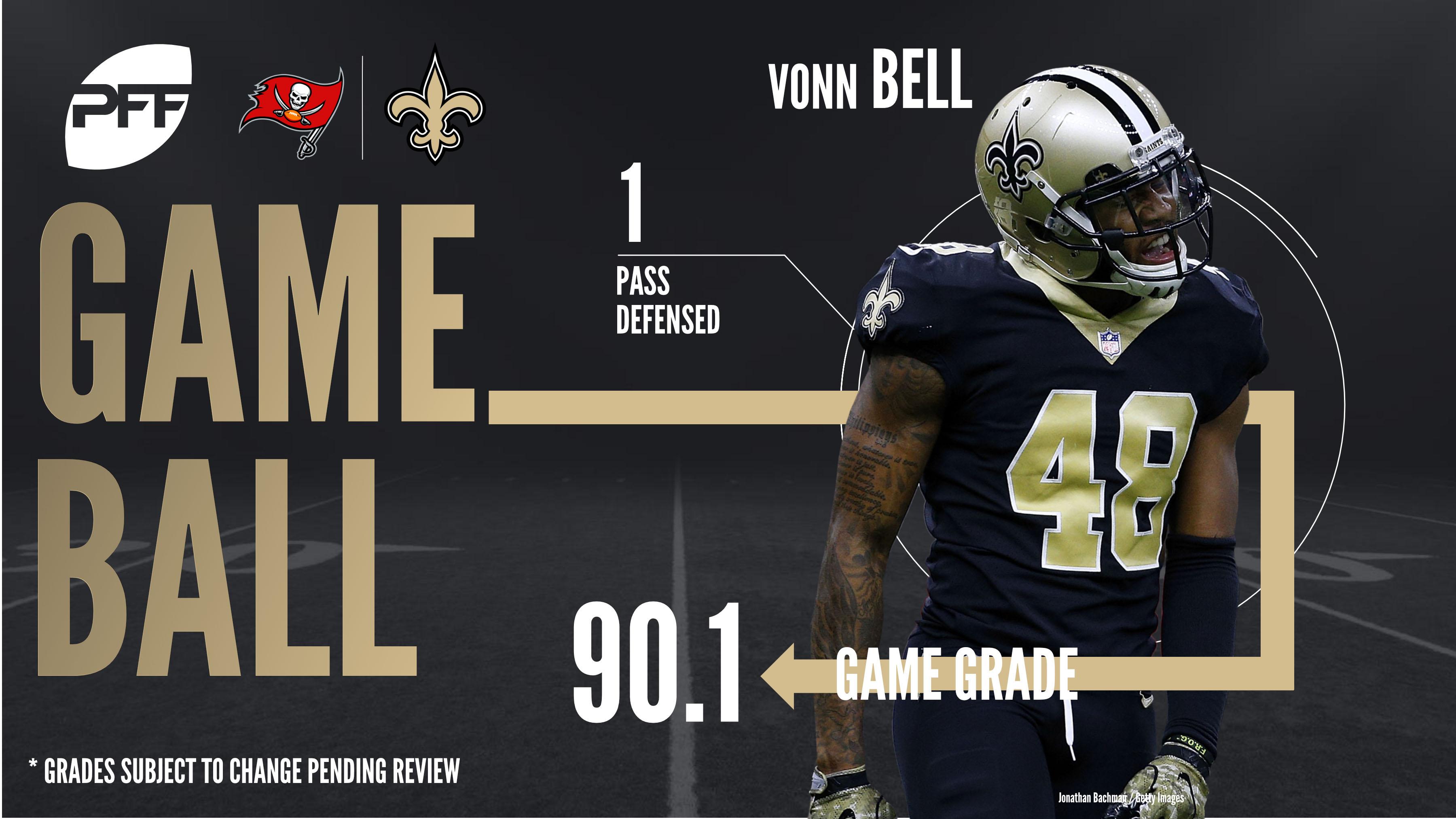 New Orleans Saints S Vonn Bell game ball