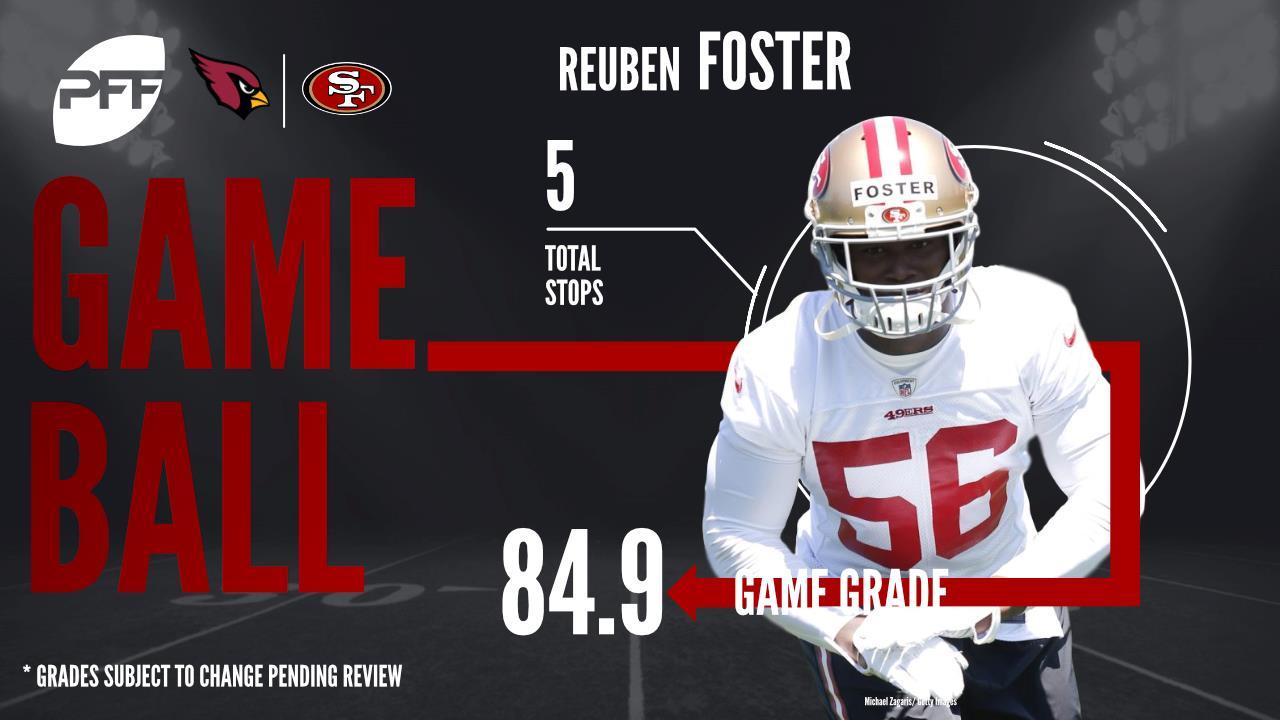 Reuben Foster, linebacker, San Francisco 49ers