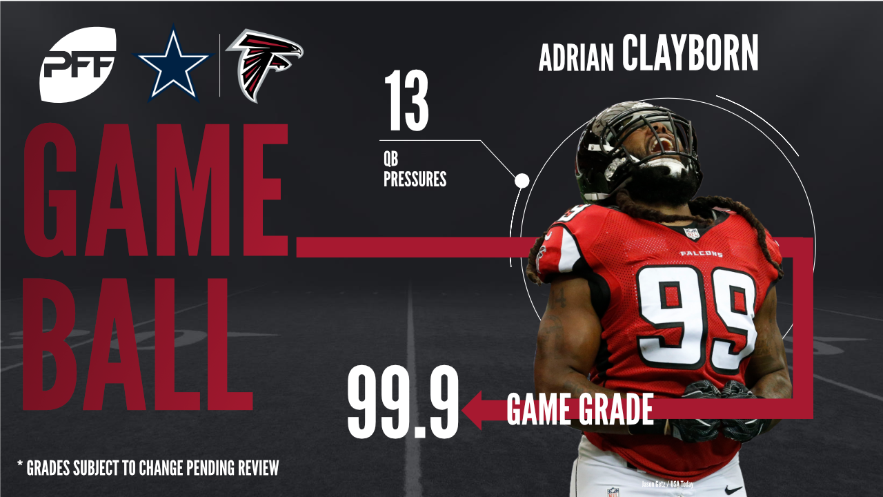 Atlanta Falcons edge defender Adrian Clayborn