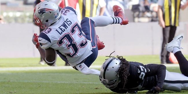 New England Patriots RB Dion Lewis