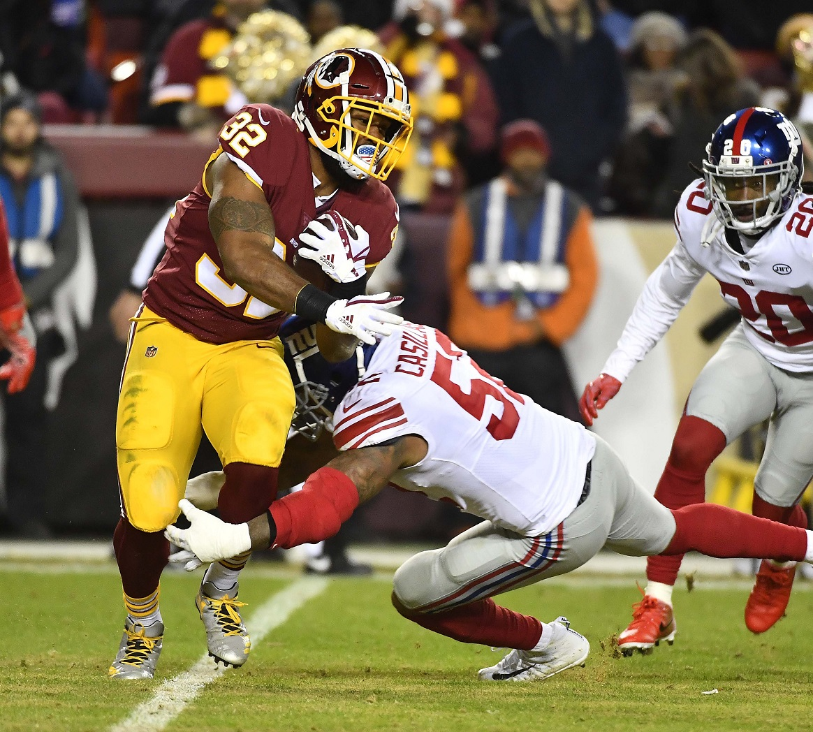 In unappetizing performance, Redskins gobble Thanksgiving night victory vs. Giants
