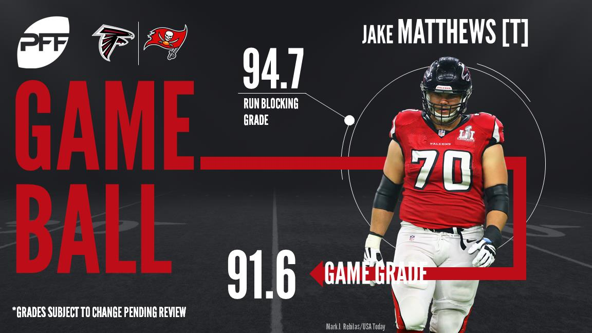 Jake Matthews, tackle, Atlanta Falcons