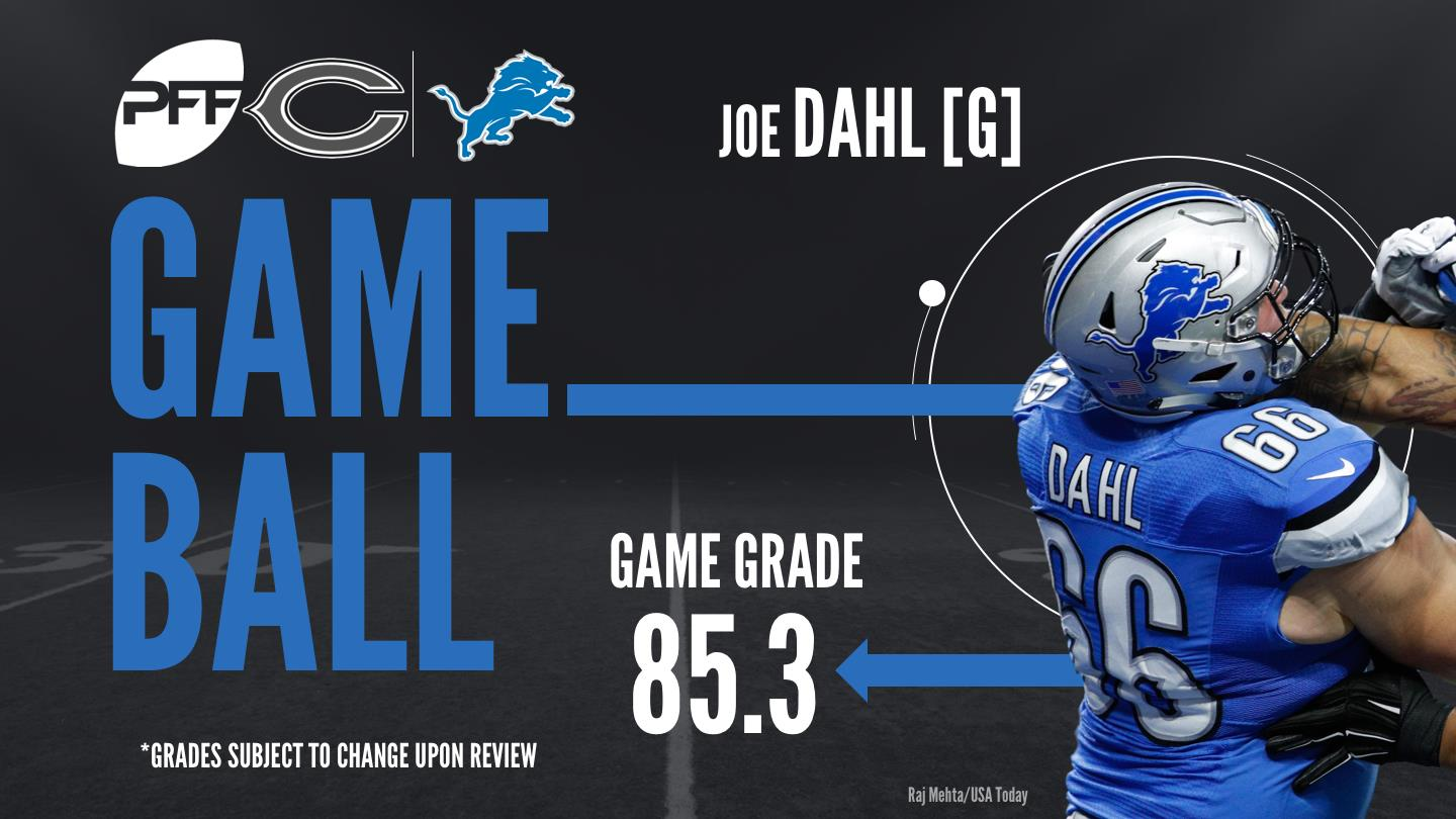 Joe Dahl, guard, Detroit Lions