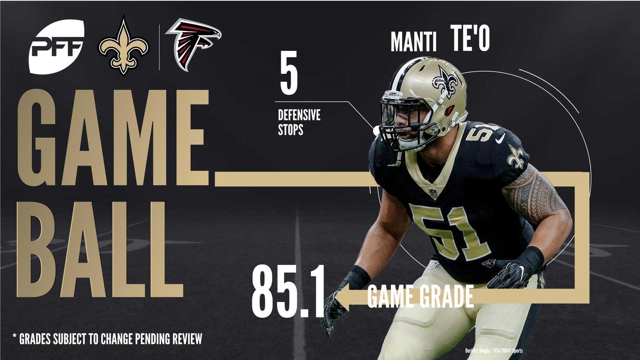 Manti Te'o, linebacker, New Orleans Saints