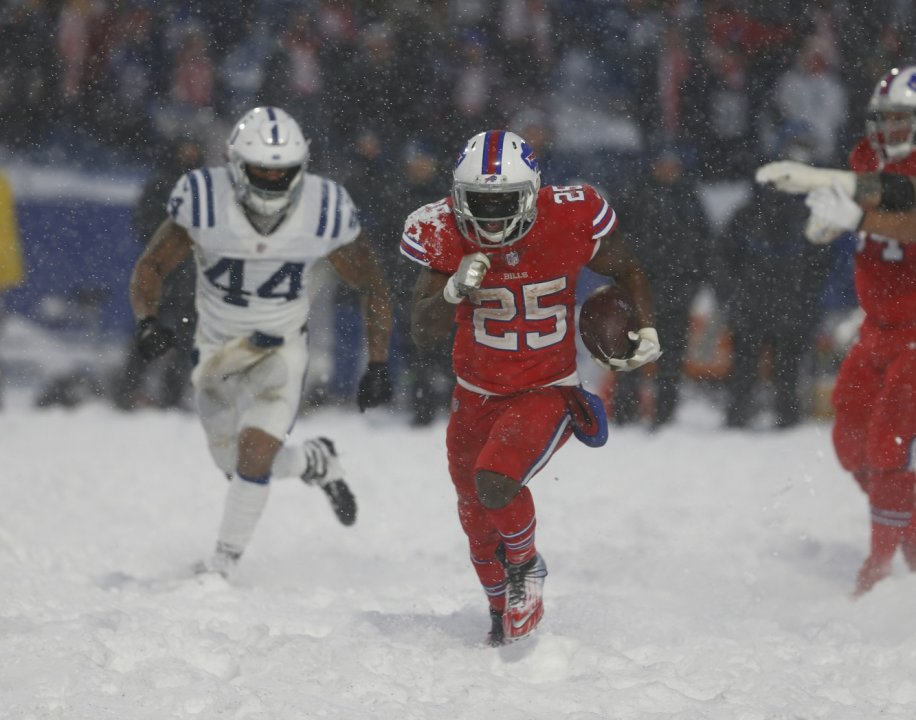 huge discount 0d057 40243 ... USA  Buffalo Bills running back LeSean McCoy (25) runs the ball for a  touchdown to win the game in overtime against the Indianapolis Colts at New  Era ...