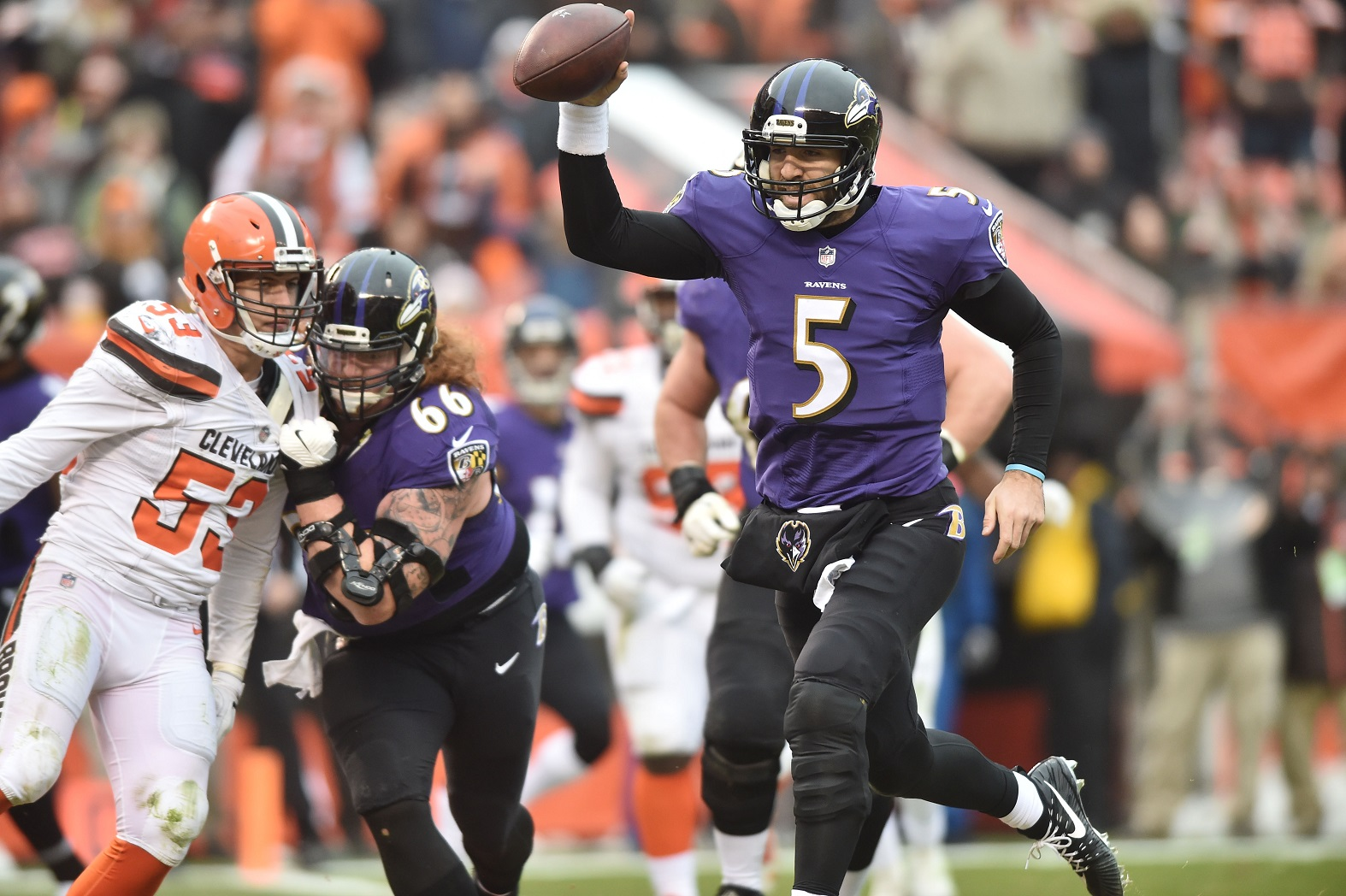 Browns look for first win of season against Ravens