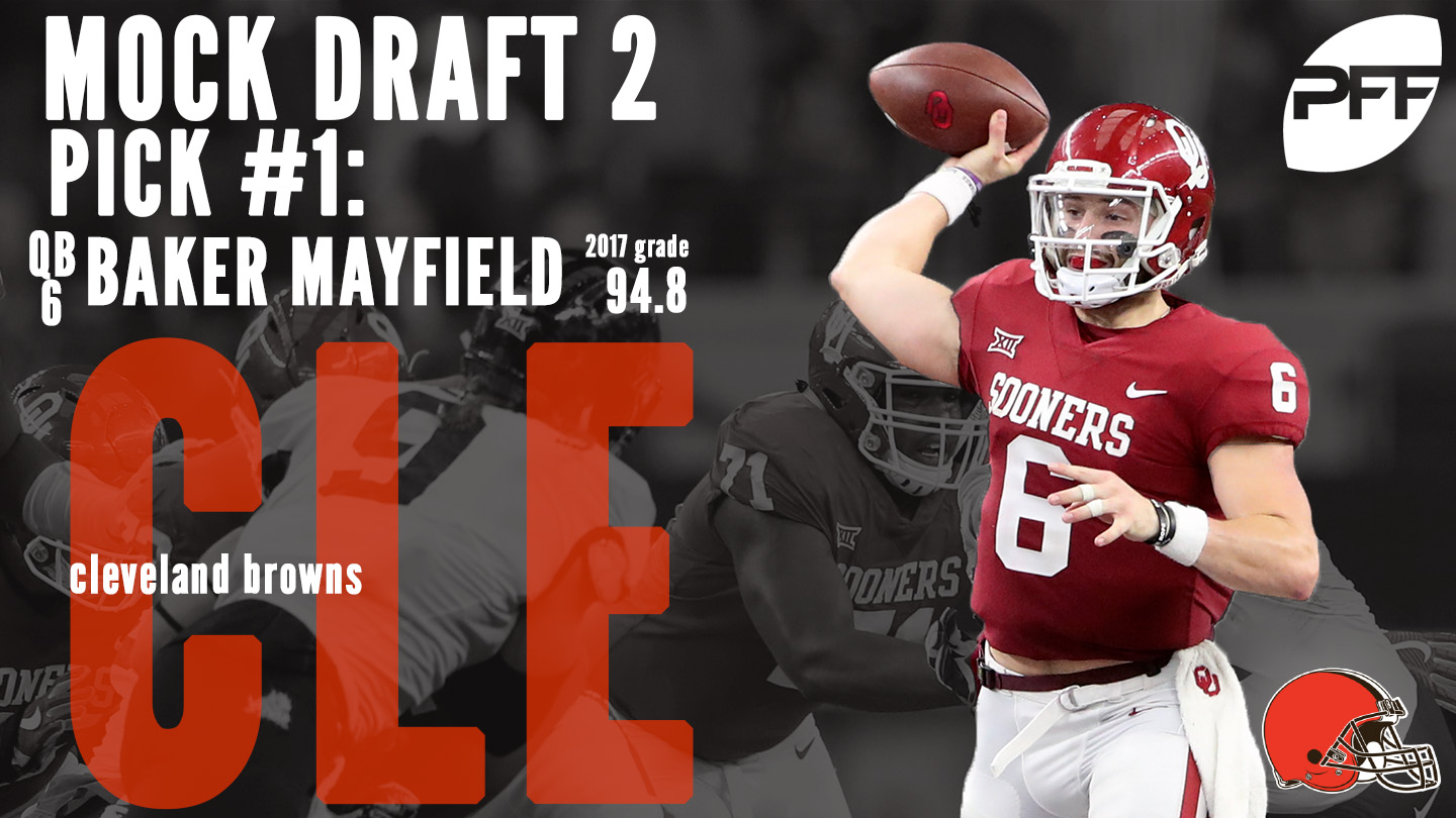 PFF Mock Draft 2 - Cleveland Browns - Baker Mayfield