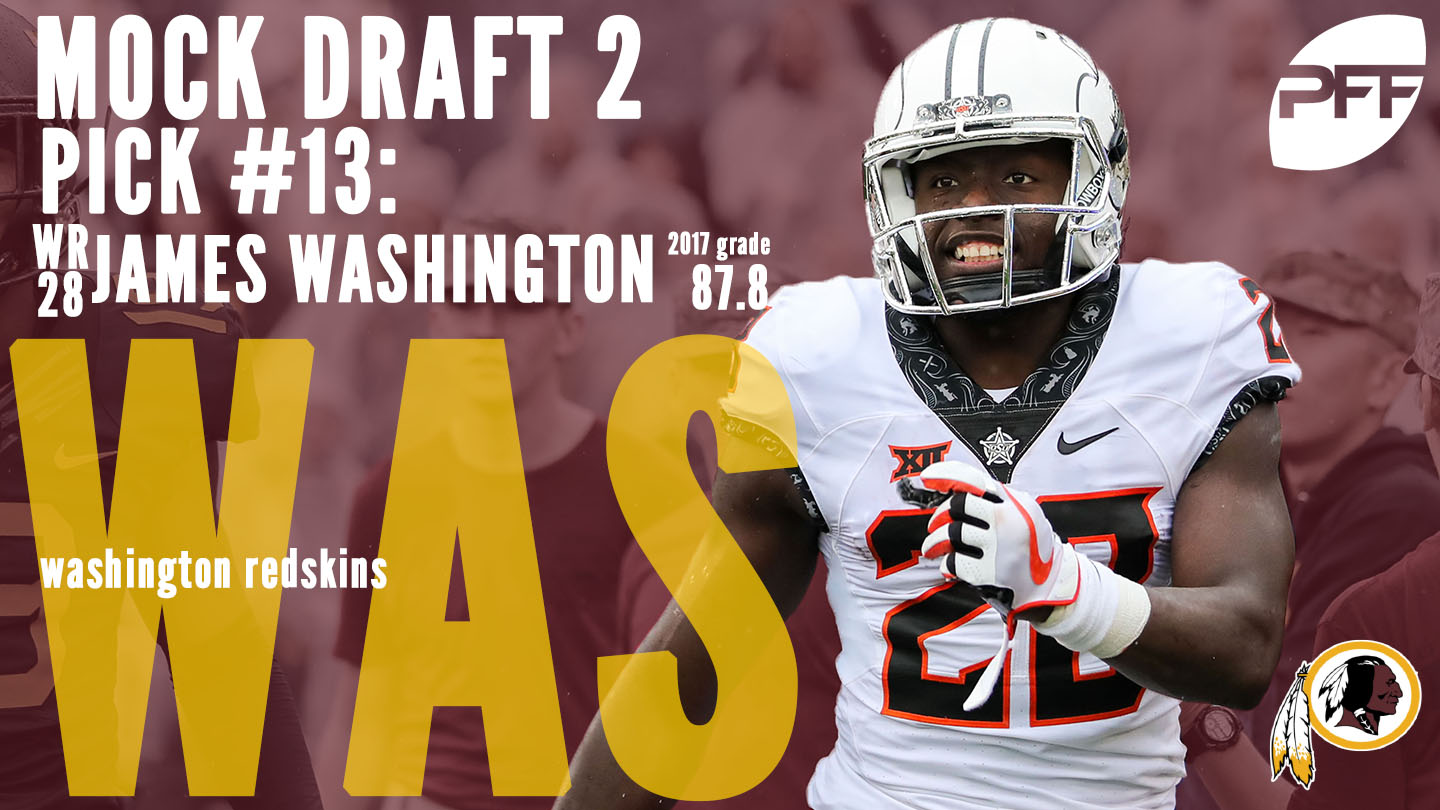 PFF Mock Draft 2 - Washington Redskins - James Washington