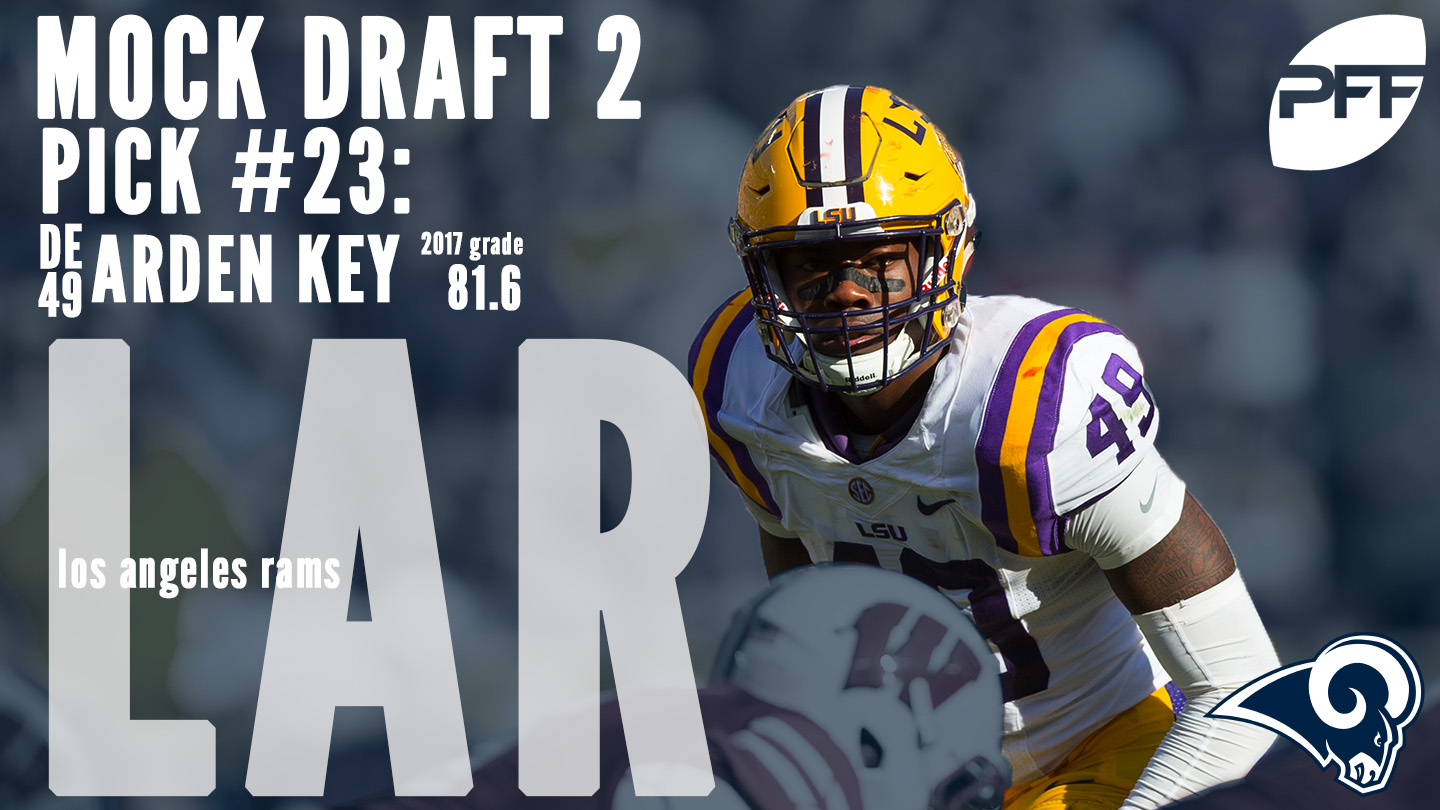 PFF Mock Draft 2 - Los Angeles Rams - Arden Key