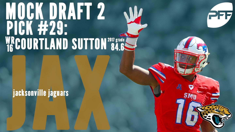 PFF Mock Draft 2 - Jacksonville Jaguars - Courtland Sutton