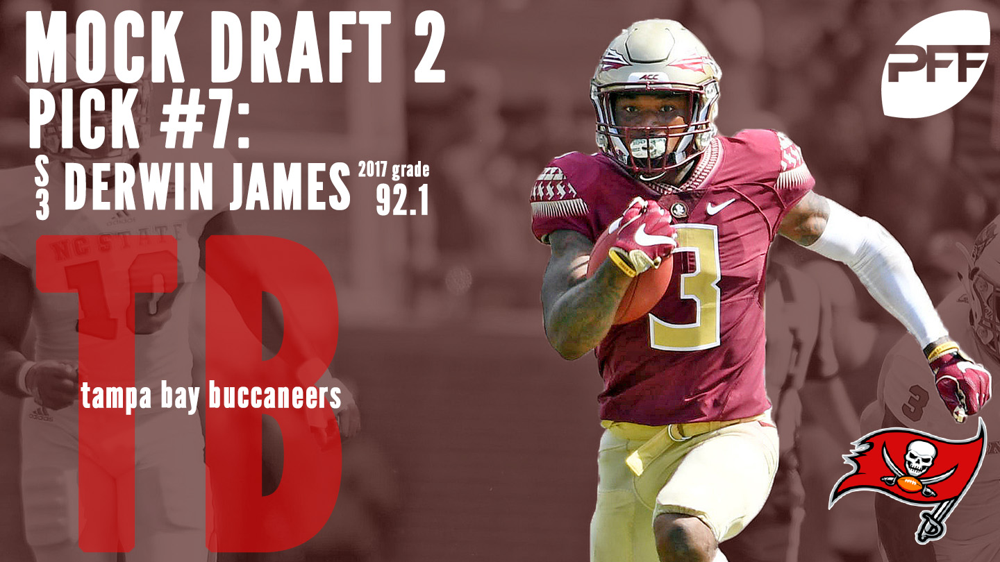 PFF Mock Draft 2 - Tampa Bay Buccaneers - Derwin James