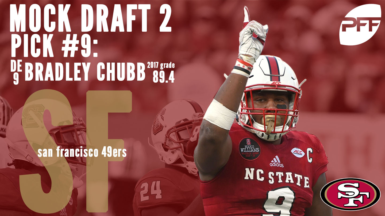 PFF Mock Draft 2 - San Francisco 49ers - Bradley Chubb