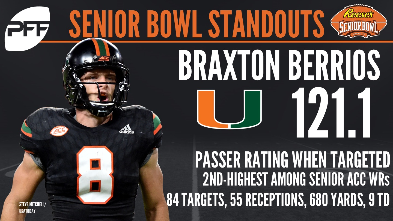 Miami WR Braxton Berrios