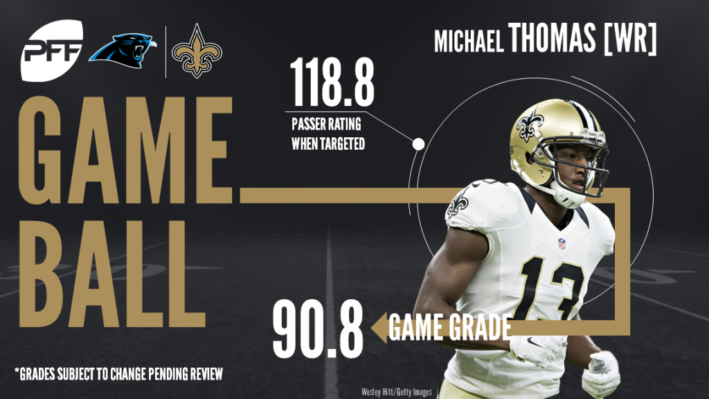 Michael Thomas, New Orleans Saints, Carolina Panthers