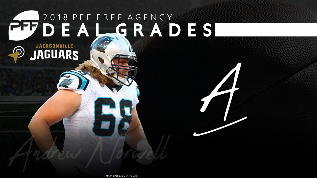Andrew Norwell signs with the Carolina Panthers