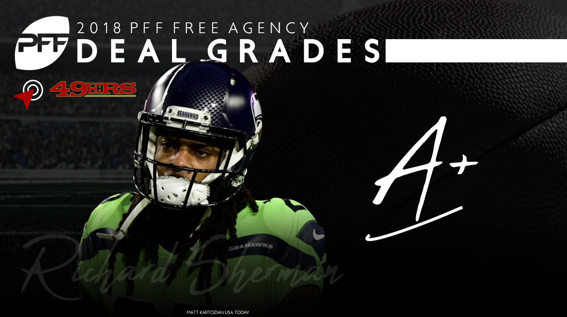 Richard Sherman signs in San Francisco