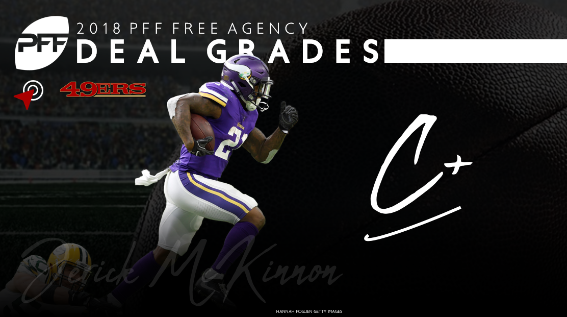 Jerick McKinnon signs with the San Francisco 49ers