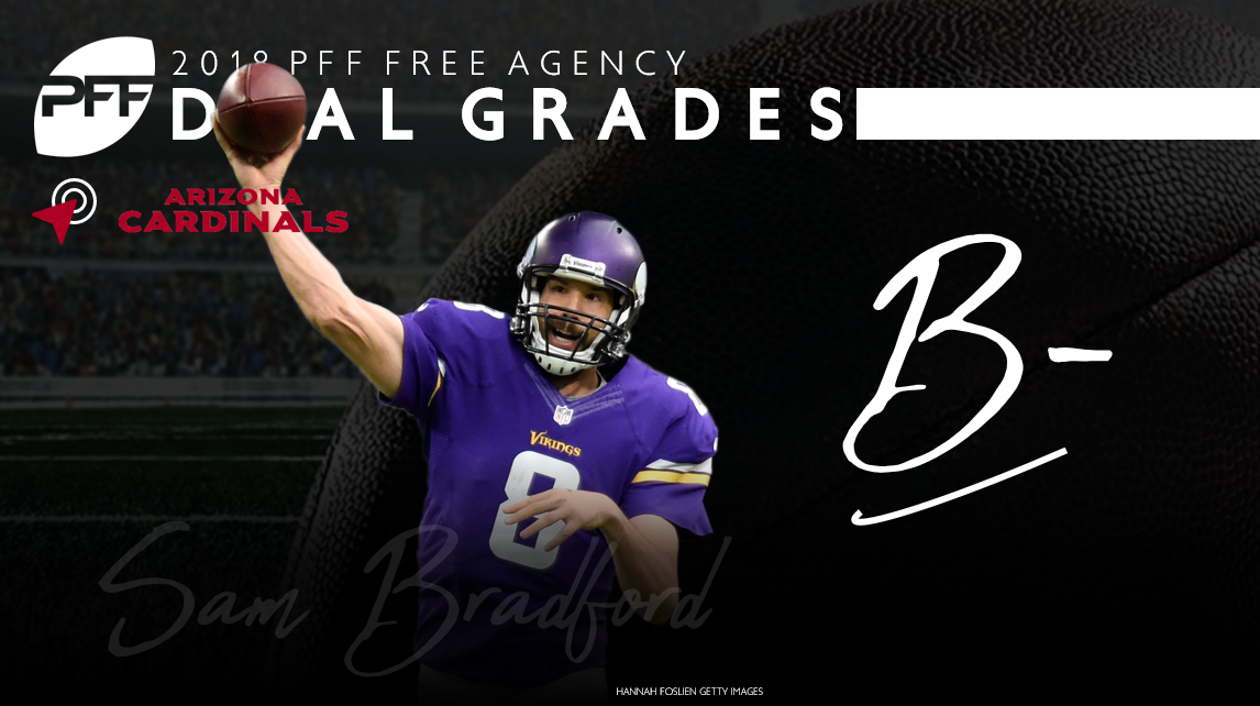 Sam Bradford signs with the Minnesota Vikings