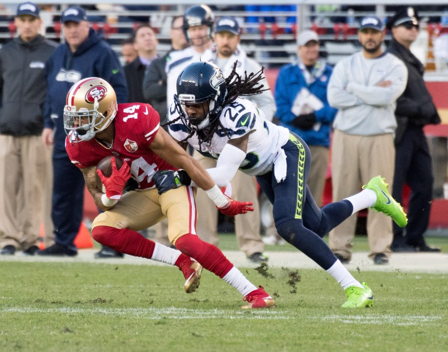 e100398e9 49ers CB Richard Sherman  A model of consistency over the years ...