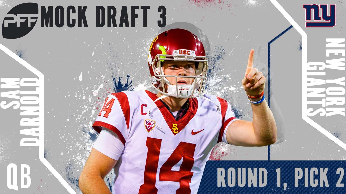 PFF Mock Draft 3 - Sam Darnold