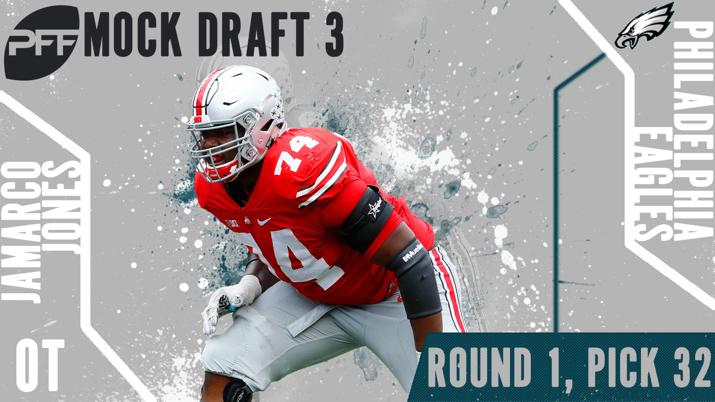 PFF Mock Draft 3 - Jamarco Jones
