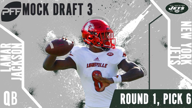 PFF Mock Draft 3 - Lamar Jackson